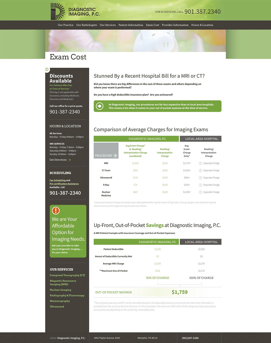 Diagnostic Imaging Web Design Exam Cost