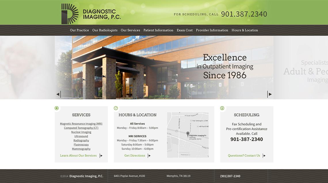Diagnostic Imaging Web Design Home 2