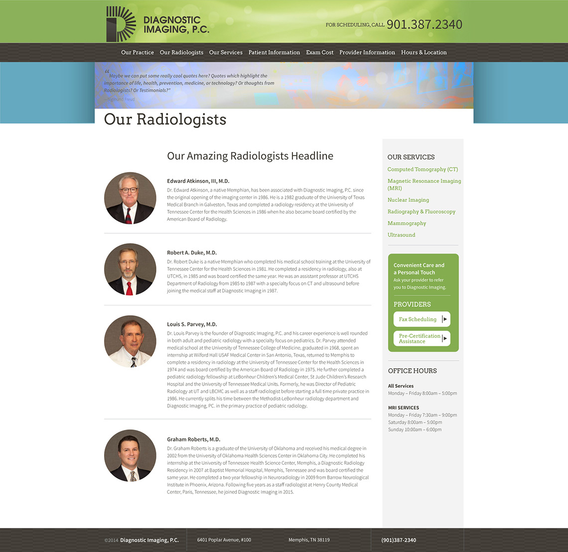 Diagnostic Imaging Web Design Our Radiologists