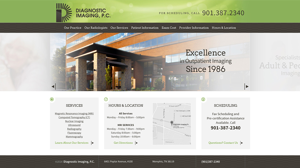 Diagnostic Imaging Web Design Home 2