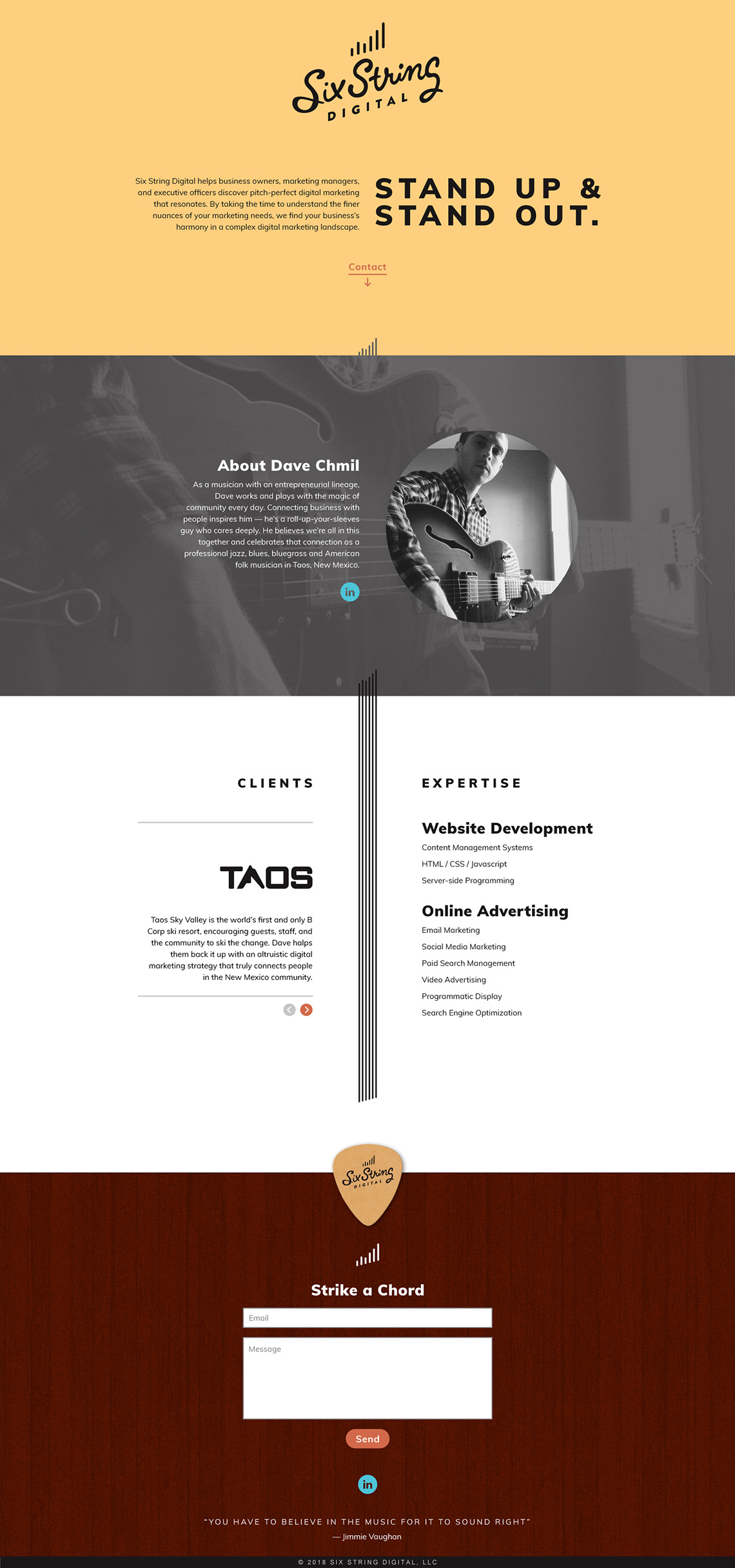 Six String Digital Web Design
